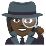 Woman Detective: Dark Skin Tone on JoyPixels 4.0