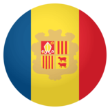 Flag: Andorra on JoyPixels 4.0