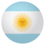 Flag: Argentina on JoyPixels 4.0