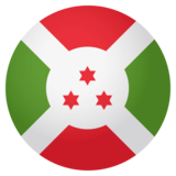 Flag: Burundi on JoyPixels 4.0