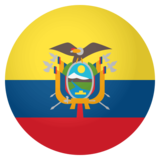 Flag: Ecuador on JoyPixels 4.0