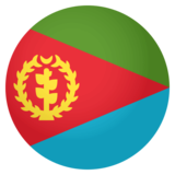 Flag: Eritrea on JoyPixels 4.0