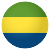 Flag: Gabon on JoyPixels 4.0