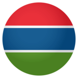 Flag: Gambia on JoyPixels 4.0