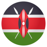 Flag: Kenya on JoyPixels 4.0