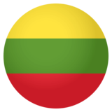 Flag: Lithuania on JoyPixels 4.0