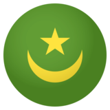 Flag: Mauritania on JoyPixels 4.0
