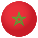 Flag: Morocco on JoyPixels 4.0