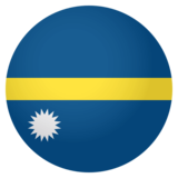 Flag: Nauru on JoyPixels 4.0