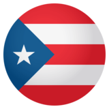Flag: Puerto Rico on JoyPixels 4.0