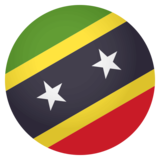 Flag: St. Kitts & Nevis on JoyPixels 4.0