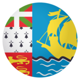 Flag: St. Pierre & Miquelon on JoyPixels 4.0