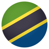 Flag: Tanzania on JoyPixels 4.0