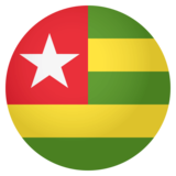 Flag: Togo on JoyPixels 4.0