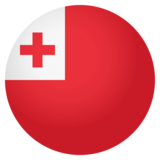 Flag: Tonga on JoyPixels 4.0