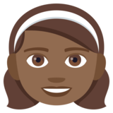 Girl: Medium-Dark Skin Tone on JoyPixels 4.0