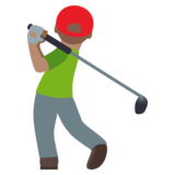Person Golfing: Medium Skin Tone on JoyPixels 4.0