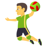 Person Playing Handball on JoyPixels 4.0