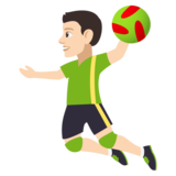 Person Playing Handball: Light Skin Tone on JoyPixels 4.0