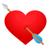 Heart with Arrow on JoyPixels 4.0