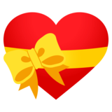 Heart With Ribbon on JoyPixels 4.0