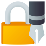 Locked with Pen on JoyPixels 4.0