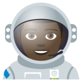 Man Astronaut: Dark Skin Tone on JoyPixels 4.0