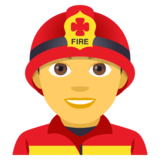 Man Firefighter on JoyPixels 4.0
