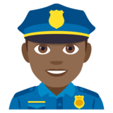 Man Police Officer: Medium-Dark Skin Tone on JoyPixels 4.0