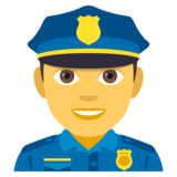 Man Police Officer on JoyPixels 4.0