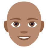 Man: Medium Skin Tone, Bald on JoyPixels 4.0
