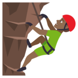 Man Climbing: Medium-Dark Skin Tone on JoyPixels 4.0