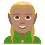 Man Elf: Medium Skin Tone on JoyPixels 4.0