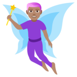 Man Fairy: Medium Skin Tone on JoyPixels 4.0
