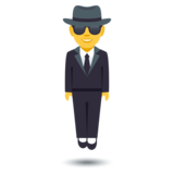 Person in Suit Levitating on JoyPixels 4.0