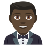 Man in Tuxedo: Dark Skin Tone on JoyPixels 4.0