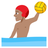 Man Playing Water Polo: Medium Skin Tone on JoyPixels 4.0