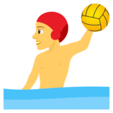 Man Playing Water Polo on JoyPixels 4.0