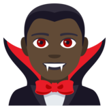 Man Vampire: Dark Skin Tone on JoyPixels 4.0