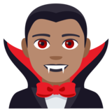 Man Vampire: Medium Skin Tone on JoyPixels 4.0