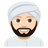 Person Wearing Turban: Light Skin Tone on JoyPixels 4.0