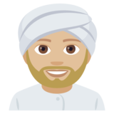 Person Wearing Turban: Medium-Light Skin Tone on JoyPixels 4.0