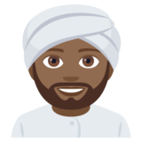 Person Wearing Turban: Medium-Dark Skin Tone on JoyPixels 4.0