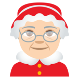 Mrs. Claus: Light Skin Tone on JoyPixels 4.0