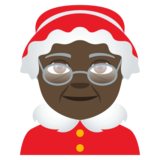 Mrs. Claus: Dark Skin Tone on EmojiOne 4.0