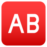 AB Button (Blood Type) on JoyPixels 4.0