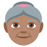 Old Woman: Medium Skin Tone on JoyPixels 4.0