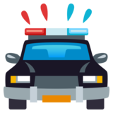 Oncoming Police Car on JoyPixels 4.0