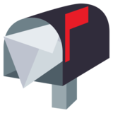 Open Mailbox With Raised Flag on JoyPixels 4.0