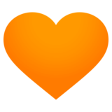 Orange Heart on JoyPixels 4.0